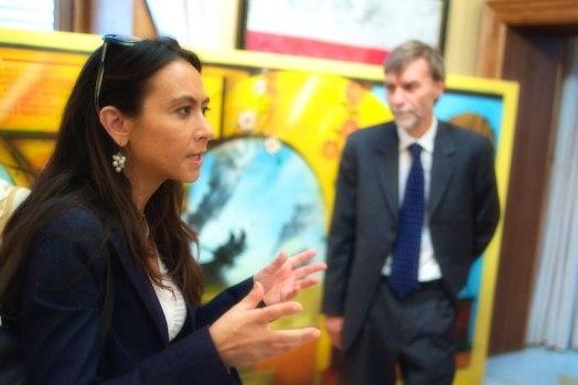 Irene Priolo con Graziano Del Rio