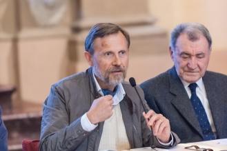 Alberto Tampellini, storico, convegno inaugurazione del Cippo del Triumvirato