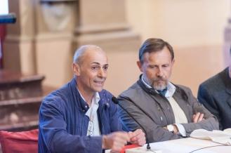 Piero Biavati, restauratore, convegno inaugurazione del Cippo del Triumvirato -
