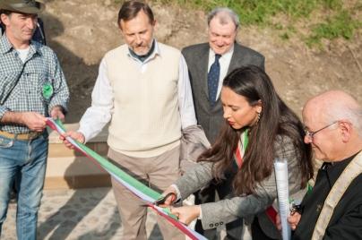 Irene Priolo Inaugura il Cippo del Triumvirato