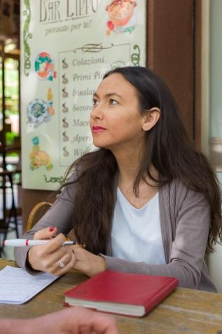 Irene Priolo a Lippo durante la Campagna 2014