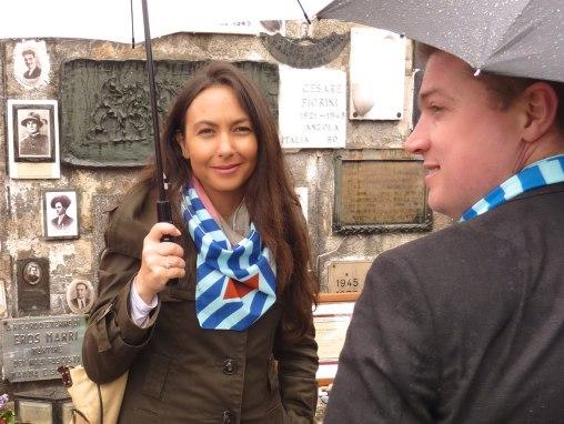 Irene Priolo e Andrea De Maria a Mauthausen