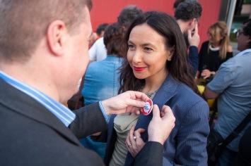 Irene Priolo e Andrea De Maria durante la Campagna 2014