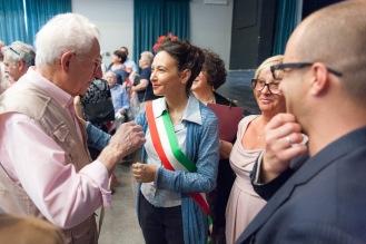 Irene Priolo durante la celebrazione delle Nozze d'Oro