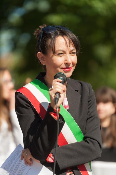 Irene Priolo durante le celebrazioni del 25 Aprile 2016