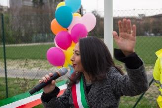 Irene Priolo all'inaugirazione del Parco Morello