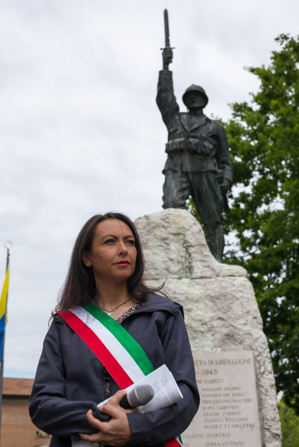 Irene Priolo alla celebrazione del 25 Aprile