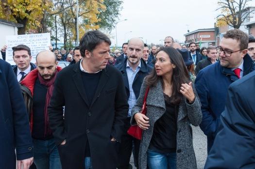 Irene Priolo con Matteo Renzi a Calderara di Reno