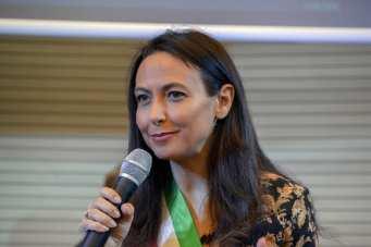 Irene Priolo all'Inaugurazione della Casa della Cultura di Calderara