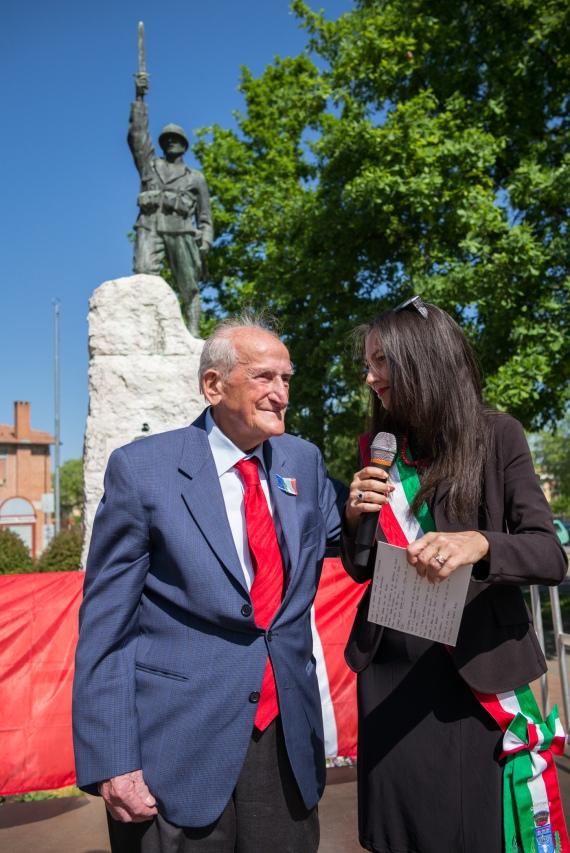 Irene Priolo con Armando Gasiani, 25 Aprile 2018